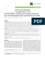 Xylem Sap Collection and Extraction Methodologies to Determine in Vivo Concentrations of ABA and Its Bound Forms by Gas Chromatography-mass Spectrometry (GC-MS)