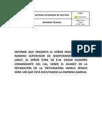 Informe Del Avance en La Reparacion de La Trituradora Remco Diciembre 2013 (1)