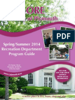 City of Plymouth Spring/Summer 2014 Recreation Program Guide