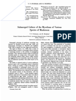 Submerged Culture of the Mycelium of Various Species of Mushroom