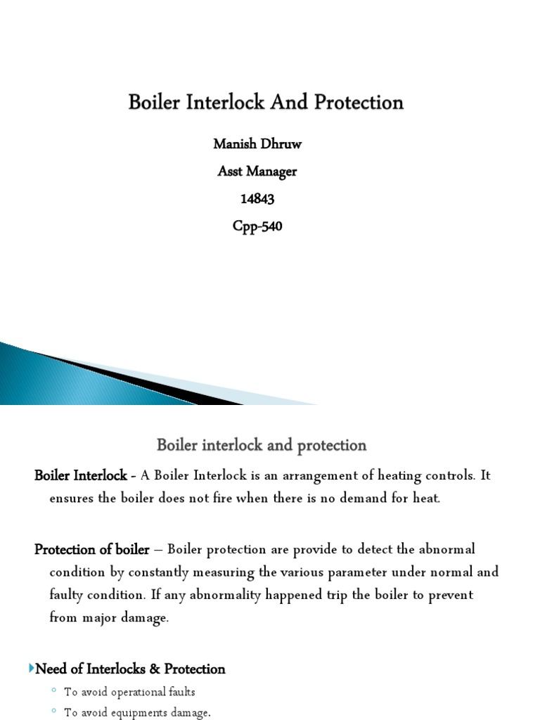 Boiler Interlock and Protection   Boiler   Mechanical Fan