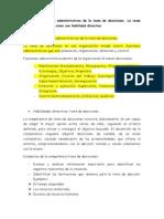 Las Funciones Administrativas de La Toma de Decisiones