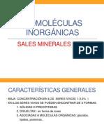 BIOMOLÉCULAS INORGÁNICAS, LAS SALES MINERALES