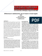 Differences in Adolescents Use of Music in Mood Regulation