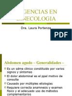Urgencias en Ginecologia