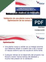 Rafael Beaus Validación de planta nueva - Optimización trabajo
