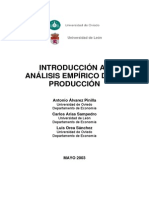 ANÁLISIS ECONOMÉTRICO DE LA PRODUCCION
