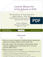 The Condition of NYC High Schools
