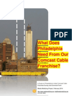 What does Philadelphia need from our Comcast Cable Franchise?