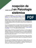 Concepción de salud en Psicología sistémica