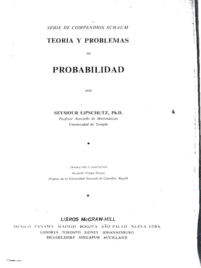 Probabilidad teoria y 500 problemas resueltospdf ccuart Gallery