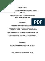 Consultoria OPS-MYSPAS Fosas Septicas