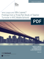 Executive Summary_Who Stays and Who Leaves? Findings from a Three-Part Study of Teacher Turnover in NYC Middle Schools (2013)