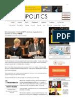 EU ambassador_ finishing CETA technical negotiations 'a question of weeks' _ iPolitics