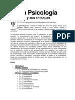 La Psicología y sus enfoques