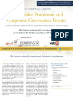 Shareholder Protection and Corporate Governance Forum