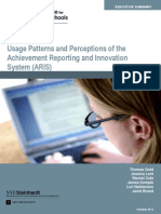 Executive Summary_Usage Patterns and Perceptions of the Achievement, Reporting and Innovation System (ARIS) (2012)