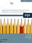 Assessing the Early Impact of School of One