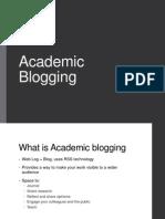 Academic Blogging