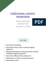 Conditional Logistic Regression Models