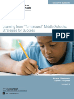 "Executive Summary_Learning from ""Turnaround"" Middle Schools"