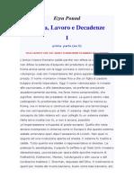 Ezra Pound - Valuta, Lavoro, Decadenze