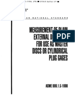 51.-ANSI ASME B89.1.5-1998 (R2009) Measurement of Plain External Diameters for Use as Master Disk - 37 P