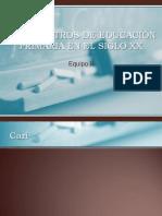 LOS MAESTROS DE EDUCACIÓN PRIMARIA EN EL SIGLO XX