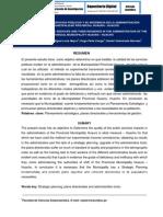 LA CALIDAD DE LOS SERVICIOS PÚBLICOS Y SU INCIDENCIA EN LA ADMINISTRACIÓN DE LA MUNICIPALIDAD PROVINCIAL HUAURA - HUACHO