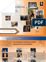 University of Tennessee Communications Department Interactive PDF