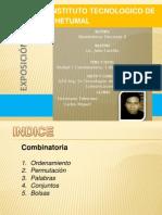 Exposicion Unidad 1 Combinatoria. Carlos Miguel Victoriano Tolentino