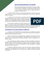3.6 SISTEMA DE CALIFICACIÓN DE LA ACTUACIÓN