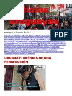Noticias Uruguayas Martes 4 de Febrero Del 2014