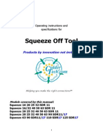Working Booklet for Squeeze Off Tools Manual
