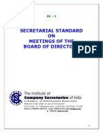 Secretarial Standard on Meetings of the Board of Directors