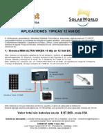 Sistemas Fotovoltaic s 12 Volt DC
