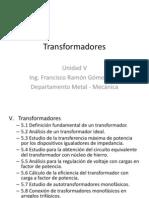 1. Temario de Transformadores