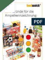 Ampelkennzeichnung für Lebensmittel