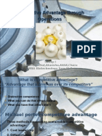Competitive Advantage Through Operations Group I