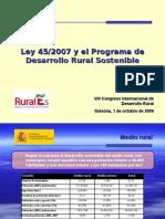 El programa de desarrollo rural sostenible (Ley 45/2007)