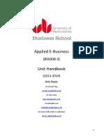 BSS008-3 Handbook 2013-2014