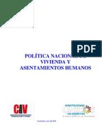 Política de Vivienda y Asentamientos Humanos