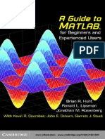 A Guide to MATLAB for Beginners and Experienced Users - Hunt Lipsman & Rosenberg