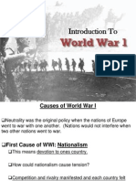 introduction to world war i section 1 powerpoint presentation