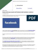 Estudio afirma que usuarios del Facebook están haciéndose vanidosos