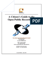 Citizen's Guide to OPRA (July 2011)