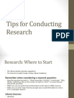 tips for conducting research