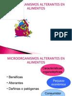 Microorganismos Alterantes en Alimentos[