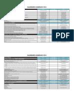 Calendario Academico 2014 v4 Propuesta