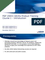 Adva - Training - FSP 150CC-GE20x R4.x Course - 1 - Introduction